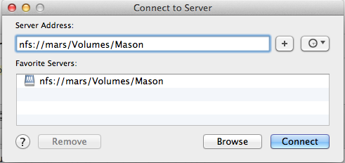 How to mount NFS shares in OSX Mountain Lion